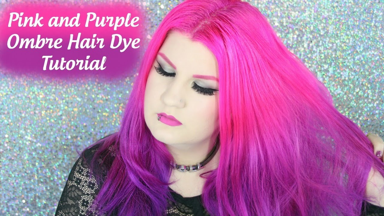 Pink And Purple Ombre Hair Dye Tutorial Youtube