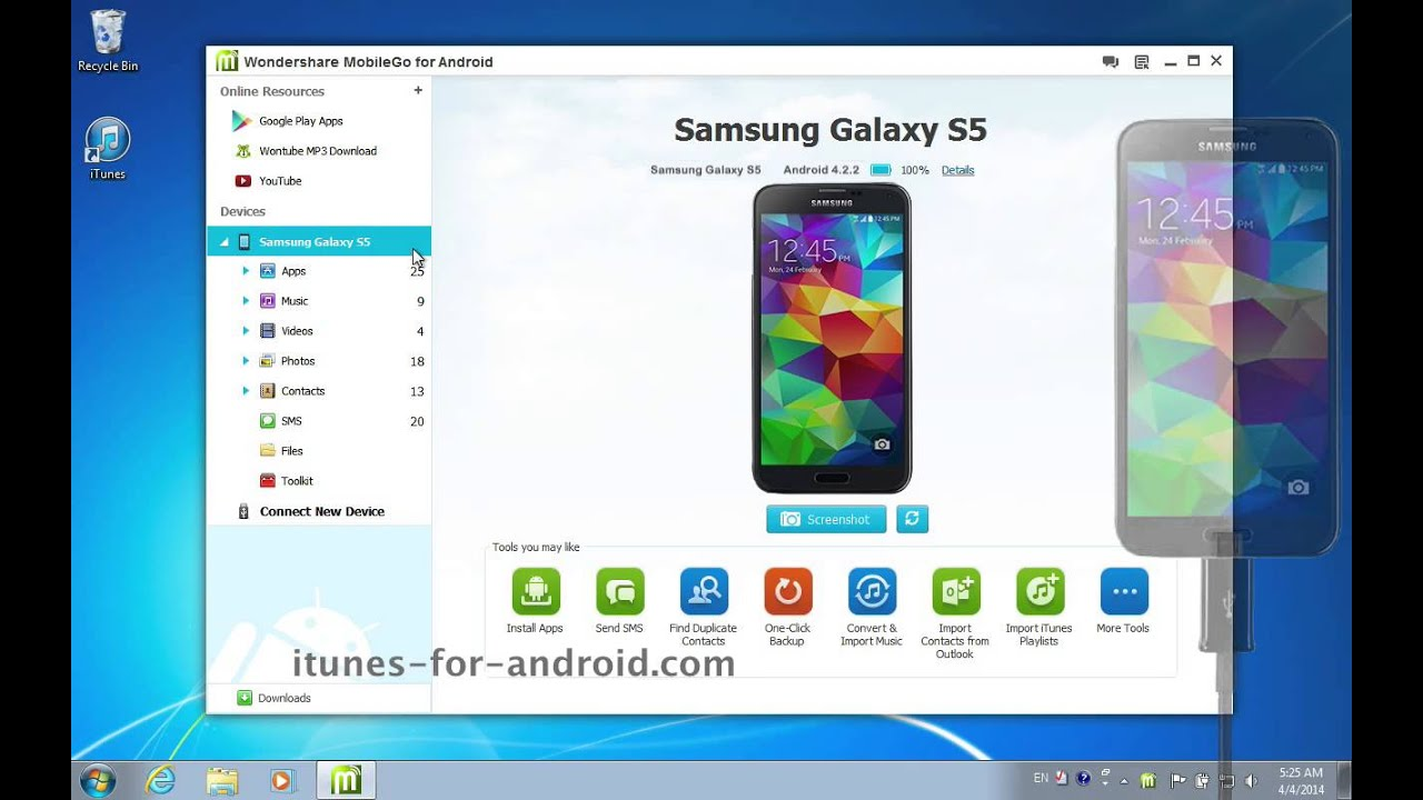 download music for samsung s5