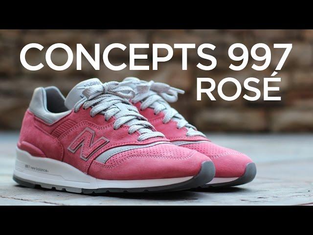 new balance 997 concepts rose