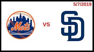 New York Mets Game Recap (5/7/2019) San Diego Padres Condensed Game