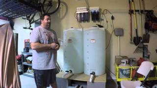reefing texan episode 4 saltwater mixing station and ro di system for reef tank