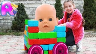Anna vs Monkey Color Block Cute Toy baby Stroller by Anna