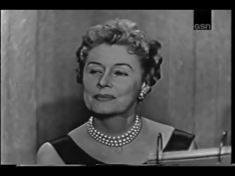 Whats My Line  Irene Dunne Jim Backus panel Oct 20 1957  YouTube