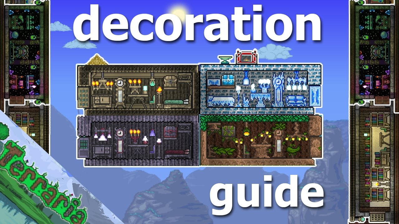 Terraria builders guide part 4 decoration furniture - How to design a home ...