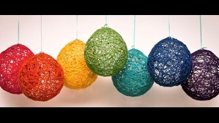 How to make a Beautiful Lampshade, Lanterns, And Yarn Globes