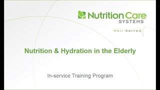 Nutrition and Hydration in the Elderly