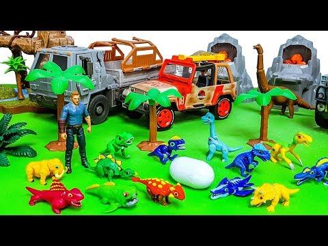 Baby dinosaurs become huge dinosaurs.. Jurassic world Toy 쥬라기월드 공룡메카드 공룡 장난감