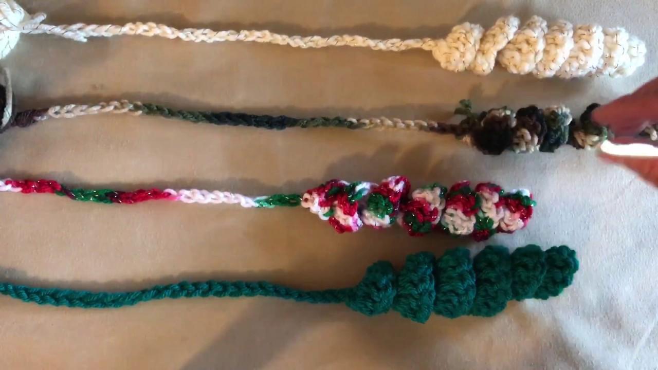 Crochet Bookworm Bookmarks