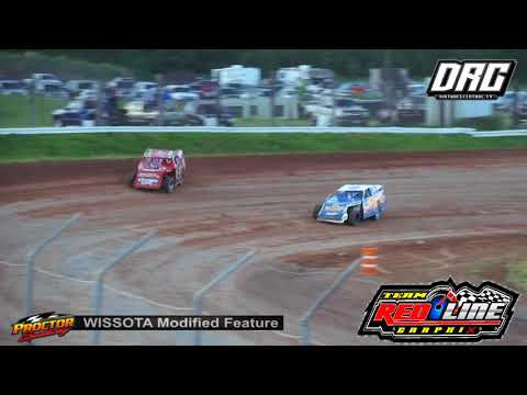 Proctor Speedway 7/22/18 WISSOTA Modified Final Laps