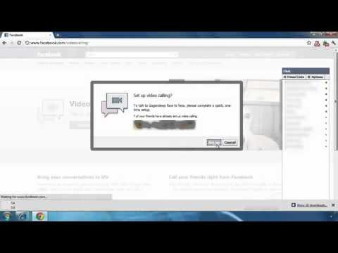 How To Setup Facebook Video Calling - Install Plugin To Video Chat.flv
