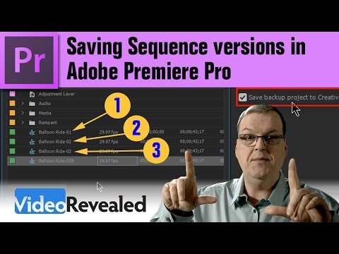 Saving Sequence versions in Adobe Premiere Pro