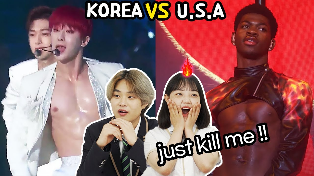 Korean Teens React To 'K-POP VS  American Male Idols With Hottest Body!'🔥