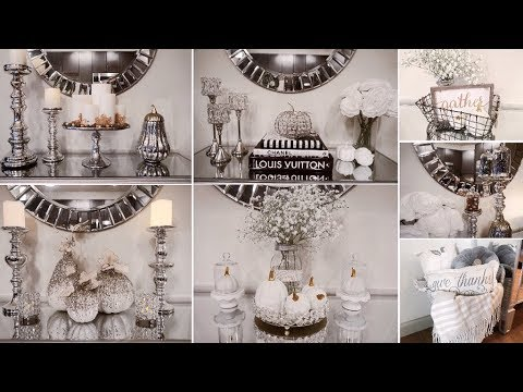 FALL ENTRYWAY TABLE DECORATING IDEAS - YouTube