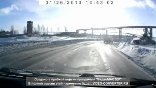 Russian Tank T90 on open highway  2013
