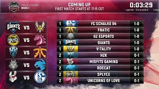 EU LCS Spring 2018 W1D2 Highlights ALL GAMES