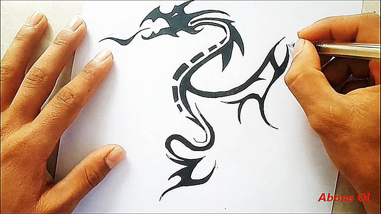 Dragon Çizimi # ejderha çizimi 2# - YouTube