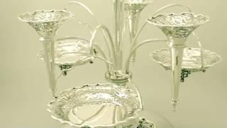 Sterling Silver Epergne Centrepiece Antique Edwardian