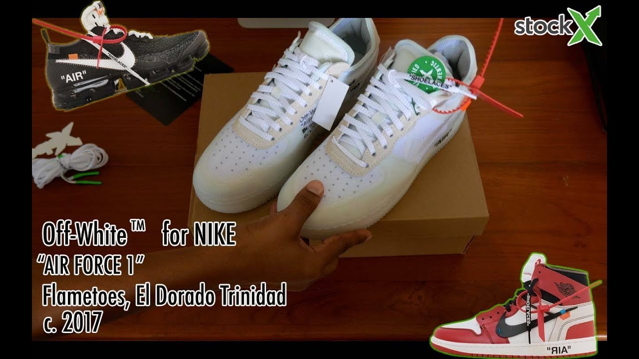 8a3e99ca OFF WHITE AIR FORCE 1 (Unboxing + Review) - YouTube