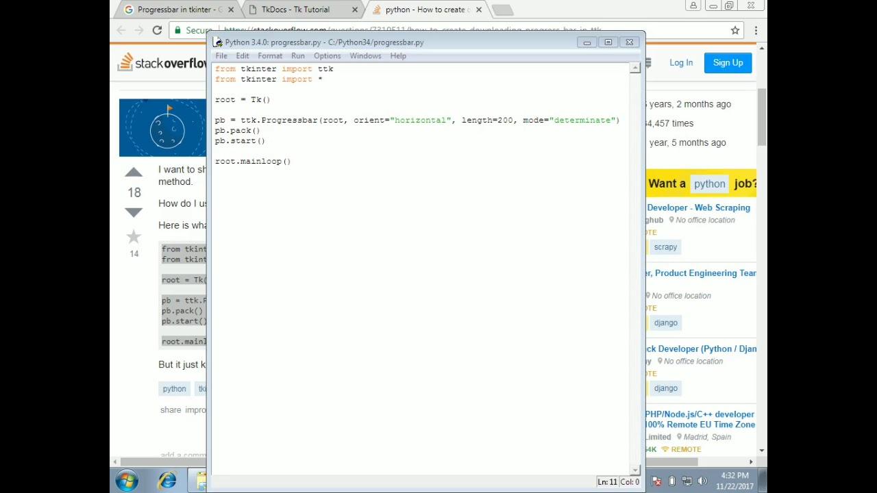 Python tkinter in Tamil-23:Progressbar in python