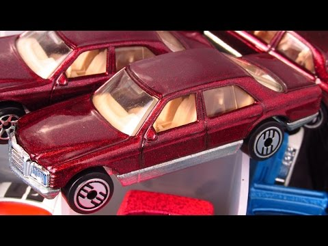 OPENING a 48-CAR STORAGE CASE full of HOT WHEELS MERCEDES, BMWs, JAGUARs and HOT RODS!