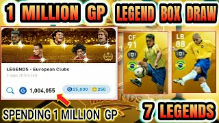 1 Million GP in Legend gb box draw opening PES 2020 Mobile