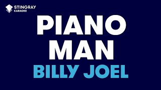 "Piano Man in the Style of ""Billy Joel"" karaoke video with lyrics (no lead vocal)"