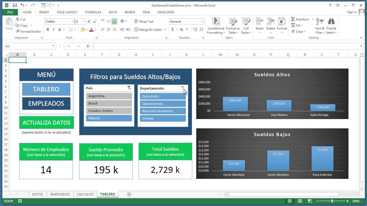 Tablero de Control para Recursos Humanos en Excel (Reportes Excel ...