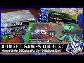 Budget Games On Disc - Games Under 20 Dollars for the PlayStation 4 & Xbox One / MY LIFE IN GAMING