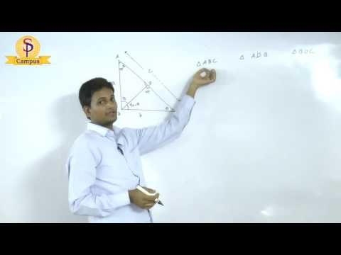 Maths by S P  Pandey Sir Geometry Right angle triangle   Part  IV