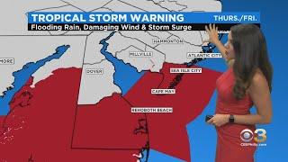 Philadelphia Weather: Tropical Storm Warning