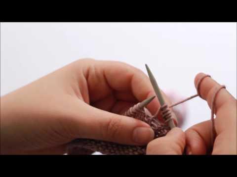 Stitch Tutorial: (k1, yo, k1, yo, k1) increase
