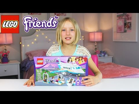 Lego Friends Heartlake Private Jet - Time-lapse, Unboxing, & Review