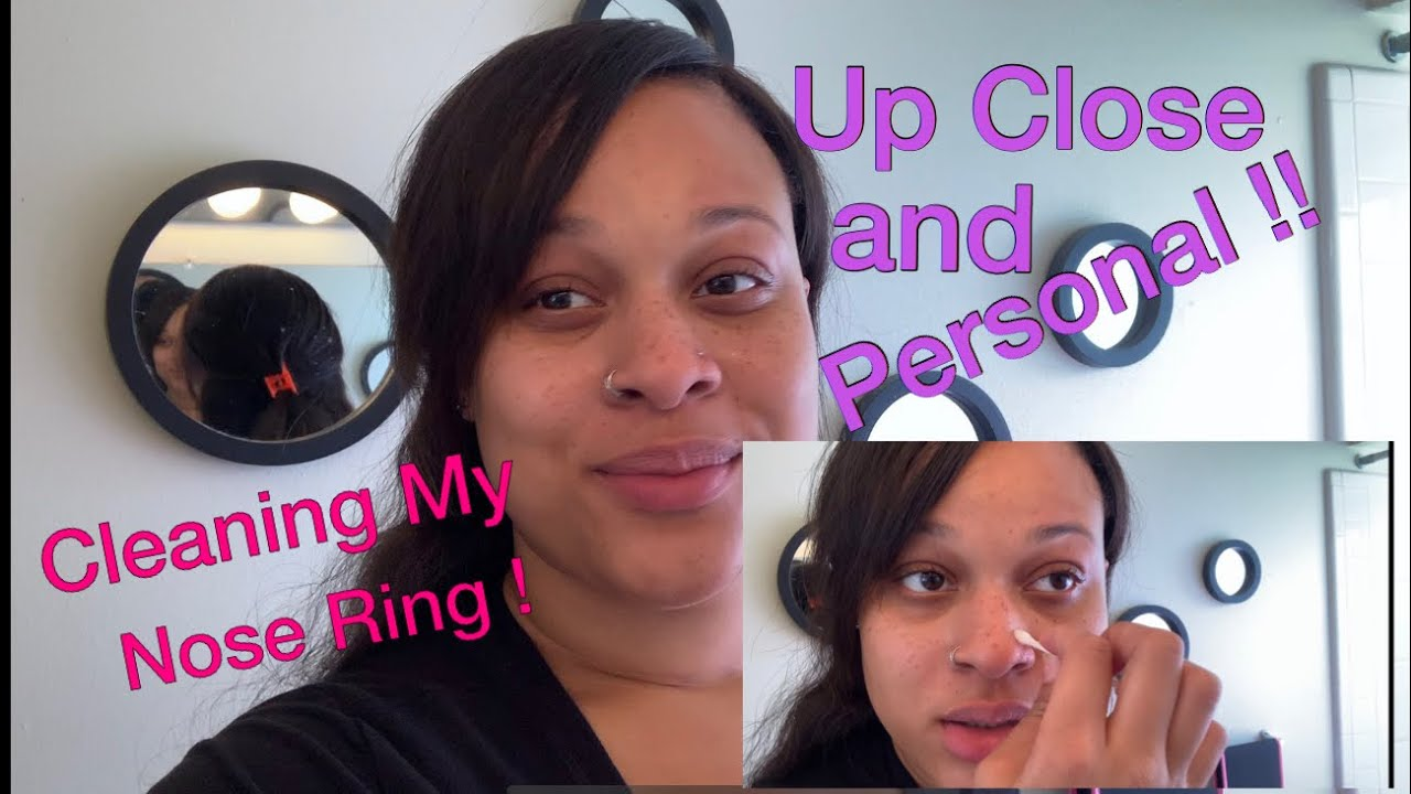 Cleaning My Nose Ring Youtube