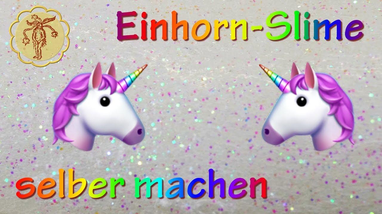 Einhorn Slime Selber Machen Mit Regenbogen Glitzer Youtube