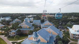 Disney Skyliner POV - Epcot to Caribbean Beach