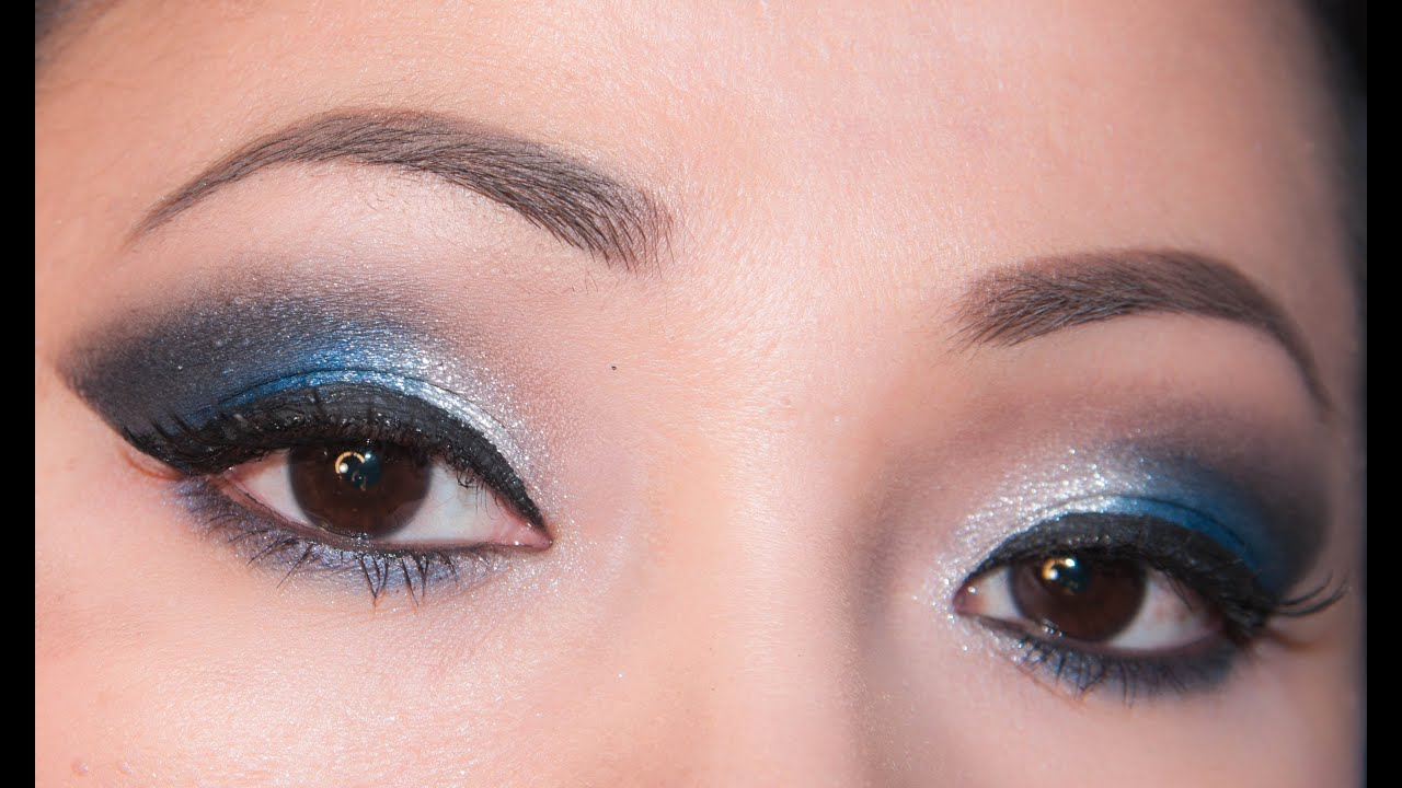 Party Eyemakeup Tutorial For Hooded Eyes - YouTube