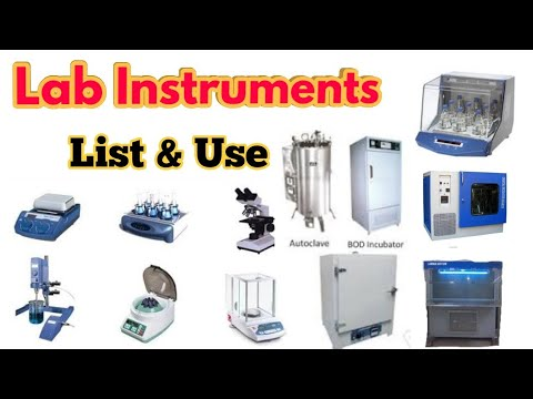 List Of Lab Instruments And Their Use