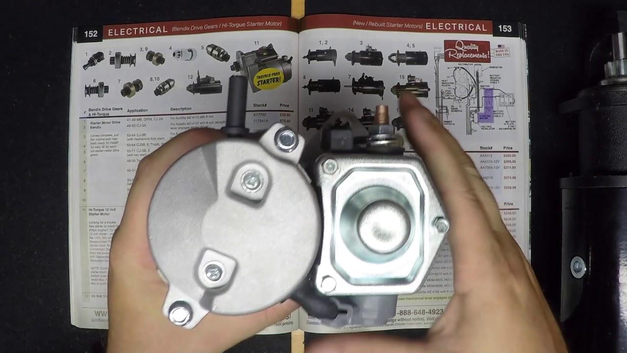 Hi Torque Starter Motors Kaiser Willys Jeep Parts Youtube Wiring