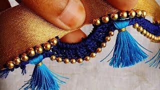 ಸೀರೆ ಕುಚ್ಚು#36.sarre tassels with beads designs tutorial for biginners.learn with me