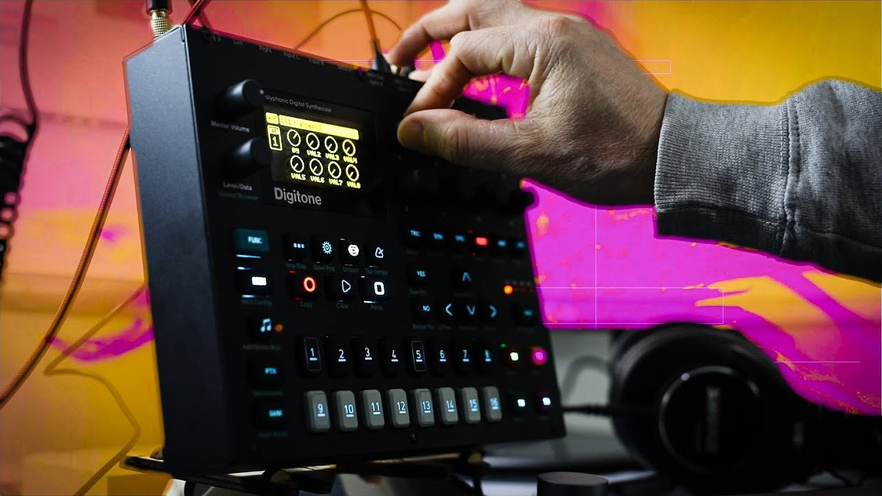 Digitone Live Visuals with Max 8 and Vizzie