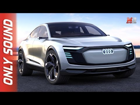 NEW AUDI E-TRON SPORTBACK CONCEPT 2017 - FIRST TEST DRIVE ONLY SOUND