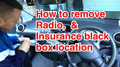 Insurance Black Box Location, & How To Remove Radio Peugeot 107, Citroen C1, & Toyota AYGO