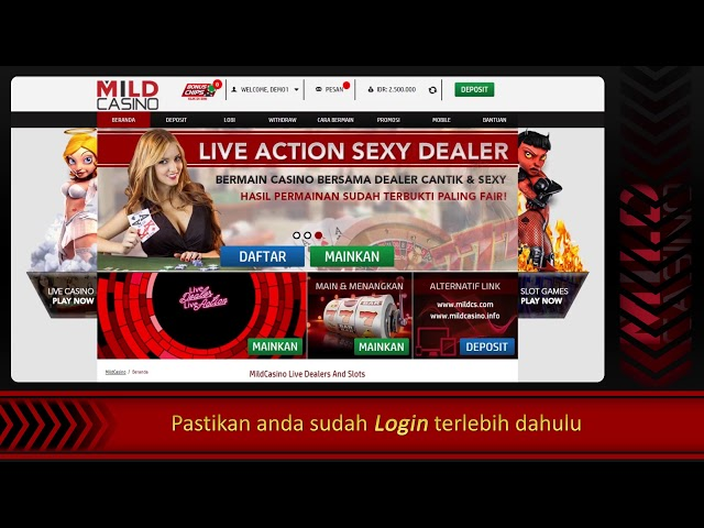 Tutorial Cara Withdraw di Mildcasino