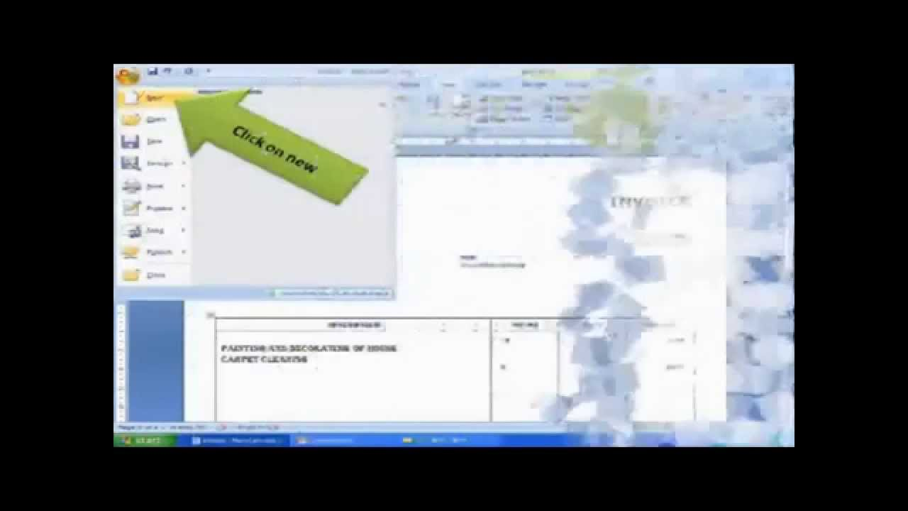 how to use Invoice template In Word 2007 YouTube