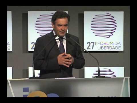 27º Fórum da Liberdade -- Painel Competitividade   Aécio Neves