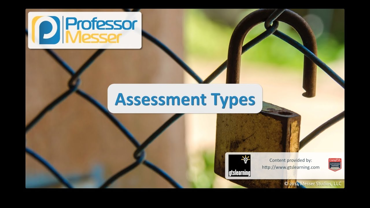Assessment Types - CompTIA Security+ SY0-401: 3.7