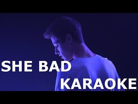 Cameron Dallas - She Bad (karaoke original + backup)