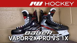 bauer Vapor 2X Pro vs 1X Skates // Tech & Spec Comparison