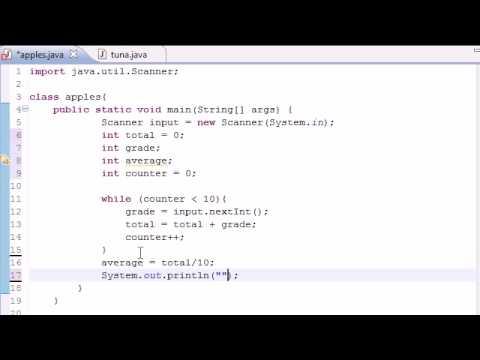 Java Programming Tutorial - 21 - Simple Averaging Program