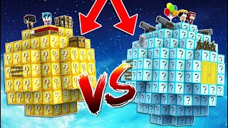 PLANETA DE LUCKY BLOCKS NOOB VS PLANETA DE LUCKY BLOCKS PRO! 🌍😱 EN MINECRAFT